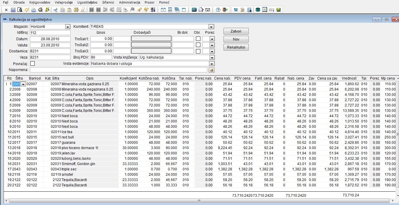 kalkulacija